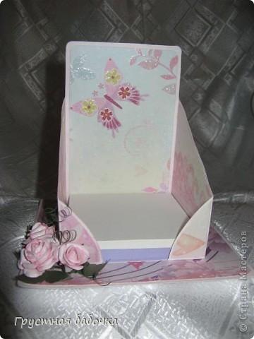 Здравствуйте, дорогие Мастерицы! Вдохновившись визитницами Наталюшки, http://stranamasterov.ru/blog/78045 сделала коробочку для бумажных блоков.  фото 4