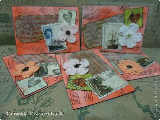 Эту простую серию атсок сделала для того,чтобы показать присланные карточки и подарки Цветочки связала мне хорошая знакомая. фото 1