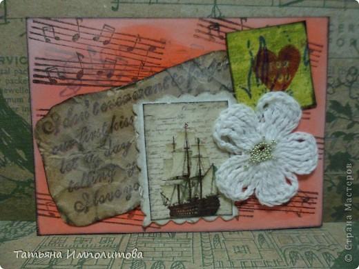 Эту простую серию атсок сделала для того,чтобы показать присланные карточки и подарки Цветочки связала мне хорошая знакомая. фото 2