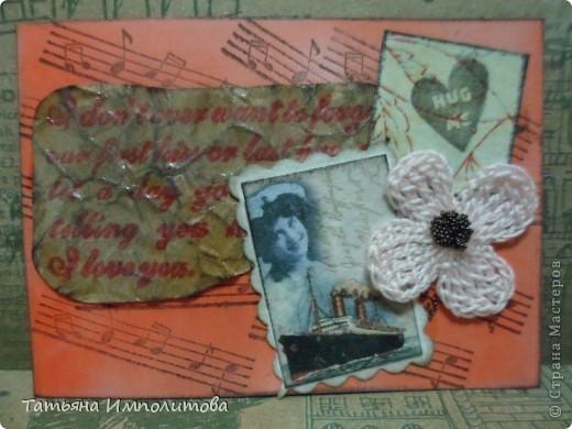 Эту простую серию атсок сделала для того,чтобы показать присланные карточки и подарки Цветочки связала мне хорошая знакомая. фото 6