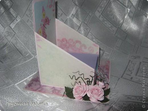 Здравствуйте, дорогие Мастерицы! Вдохновившись визитницами Наталюшки, http://stranamasterov.ru/blog/78045 сделала коробочку для бумажных блоков.  фото 2