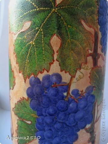 ну вот....наконец закончила последний заказ этой недели... большая бутыль для домашнего... виноградного... (скоро эта бутылочка поедет в Осетию....) теперь - вся ночь моя....хочешь - спи...хочешь - для себя ваяй...  что получилось - смотрите... фото 4