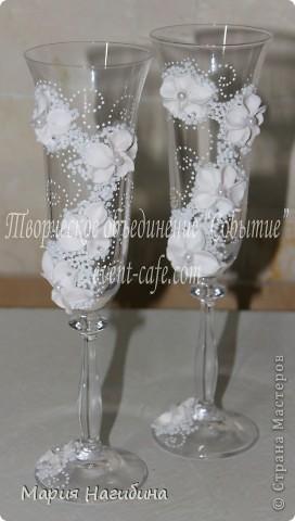 """Свадебные бокалы """"Цветочная нежность"""". фото 1"""