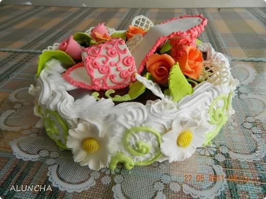 Сделала торт на 20-ти летие девушке... фото 1