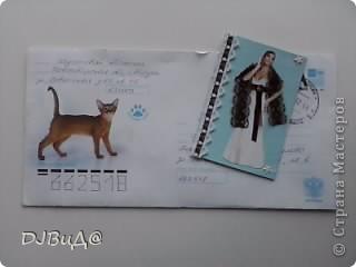 сначало я вытащила из почтового ящика этот конверт...там столько всего былоо... Вот эта красивая салфеточка-бумажечка)) фото 4