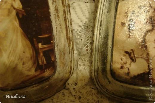 Панно для девочки))Декупаж винтаж.Гипс,декупажная карта,бабочек клеила пистолетом фото 8