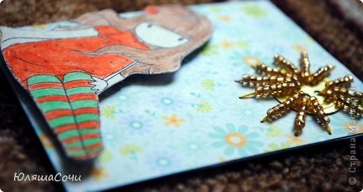 девочки акварельные, солнышко-пуговка дырокольная, лучики вышиты бисером)))) фото 2