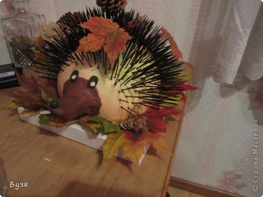 Вот такого ежика сделала на праздник осени в детский сад.  фото 1