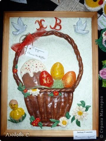 К празднику пасхи в нашем храме проводилась выставка пасхальных работ. У меня получилась вот такая корзиночка. фото 1