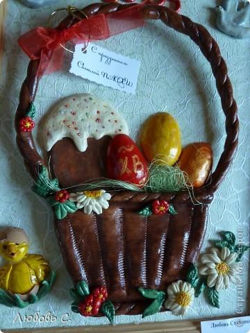 К празднику пасхи в нашем храме проводилась выставка пасхальных работ. У меня получилась вот такая корзиночка. фото 2