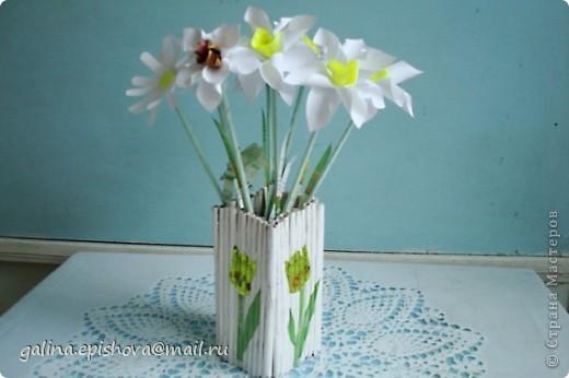 Великолепные весенние цветы,очень нежные, очень красивые, самое главное - одни из первых! А как просто их сделать! Поэтому не удержалась обойти их своим вниманием. Делала их по МК Татьяны Просняковой - Цветок водяного бога. А как похожи на оригинал. фото 3