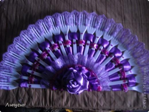 Мой первый веер. Цвет - ярко-фиолетовый. (Мой любимый) фото 3