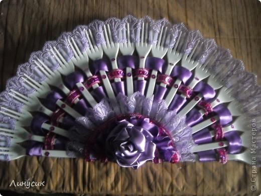 Мой первый веер. Цвет - ярко-фиолетовый. (Мой любимый) фото 4