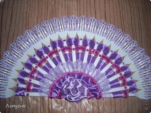 Мой первый веер. Цвет - ярко-фиолетовый. (Мой любимый) фото 5