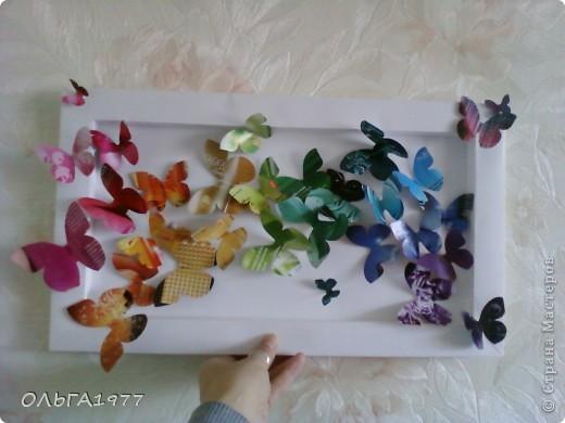 Попросили поделку в детский сад (сыну), а я давно хотела сделать что-нибудь с бабочками, ну вот и пригодились каталоги Орифлейм. фото 1