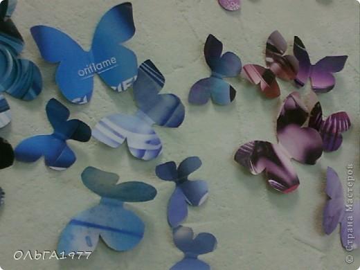 Попросили поделку в детский сад (сыну), а я давно хотела сделать что-нибудь с бабочками, ну вот и пригодились каталоги Орифлейм. фото 6