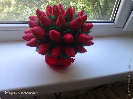 Розы из салфеток фото 5