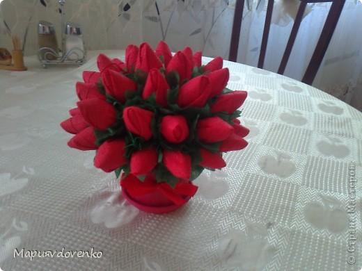 Розы из салфеток фото 1