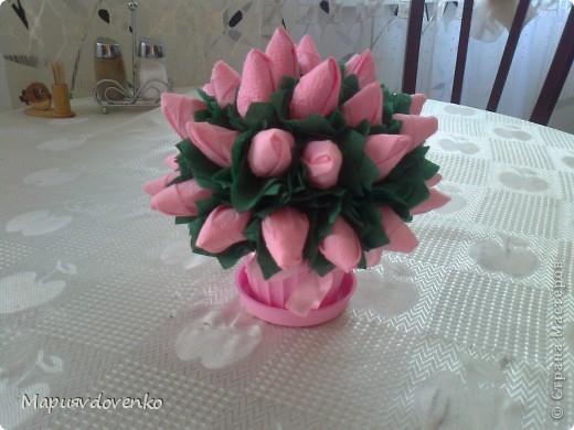 Розы из салфеток фото 4