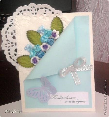 Вот появились заказы, так появились и открытки)   вот эту я делала вместе с моей подругой для её мамы) фото 3