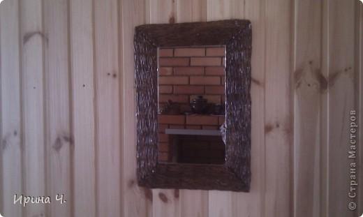 Рамка для зеркала. На даче. фото 1