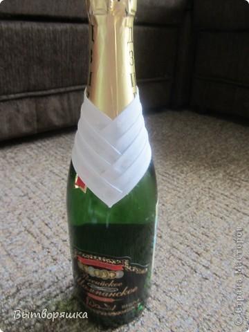 """Делала бутылочку впервые, на подарок мужу (присвоили очередное звание). Полная """"отсебятина"""" в технике, без использования чужих МК. В итоге получилось свое МК. Если интересно смотрите, может кому и пригодится... фото 2"""