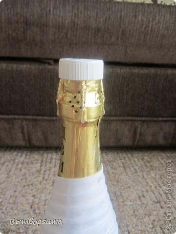 """Делала бутылочку впервые, на подарок мужу (присвоили очередное звание). Полная """"отсебятина"""" в технике, без использования чужих МК. В итоге получилось свое МК. Если интересно смотрите, может кому и пригодится... фото 3"""