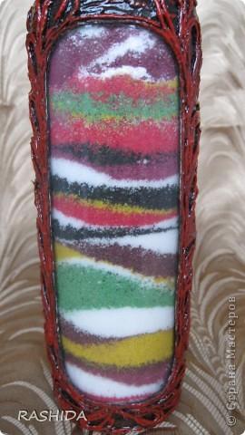 """Эта бутылка декорирована  по МК авторской технике """"Пейп-арт""""Татьяны Сорокиной.В процессе работы получила огромное удовольствие.Очень доступный МК.Спасибо. фото 7"""
