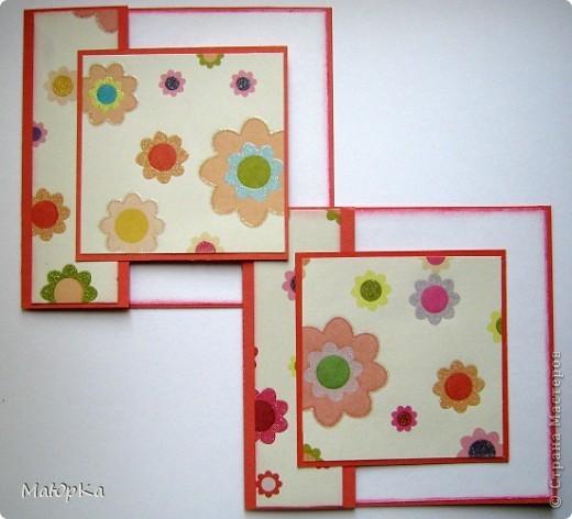 """Сегодня хочу показать Вам парочки открыток по одному скетчу. Наверное, их можно отнести к стилю """"просто и чисто"""", хотя не уверена. Основа-бумага для пастели + дизайнерская бумага. фото 1"""
