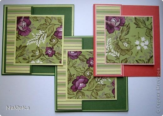 """Сегодня хочу показать Вам парочки открыток по одному скетчу. Наверное, их можно отнести к стилю """"просто и чисто"""", хотя не уверена. Основа-бумага для пастели + дизайнерская бумага. фото 5"""