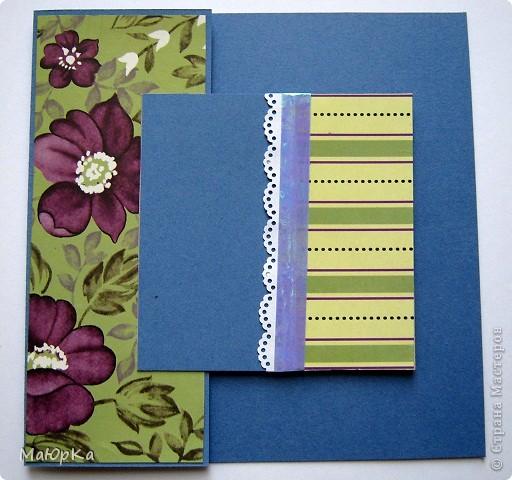 """Сегодня хочу показать Вам парочки открыток по одному скетчу. Наверное, их можно отнести к стилю """"просто и чисто"""", хотя не уверена. Основа-бумага для пастели + дизайнерская бумага. фото 6"""