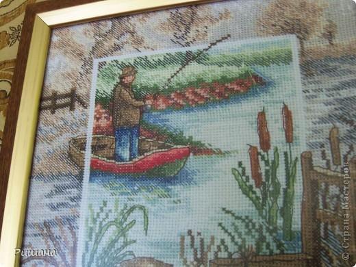 Вышивка крестом Рыбак