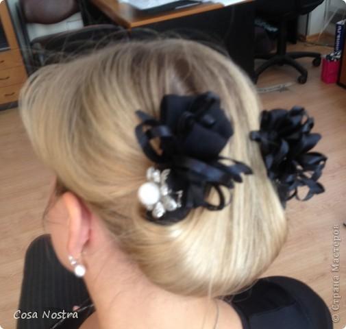 Заколка для волос а-ля Sofist-o-twist вариант Мальвина, закрученная в полъоборота. фото 10