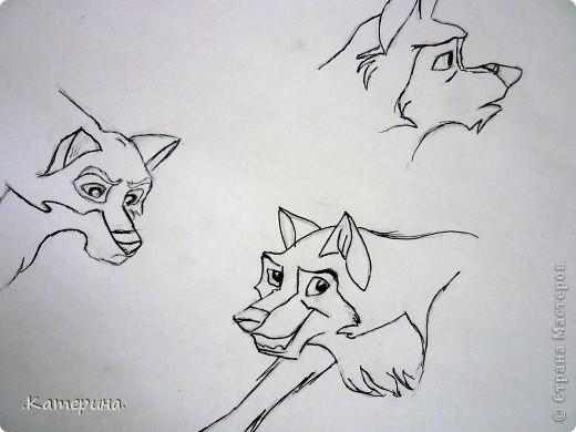 Сначала нарисовала карандашом, затем обвела гелевой ручкой. фото 4