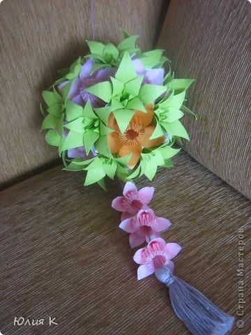 Кусудамка из цветов в подарок сестре мужа.  фото 1