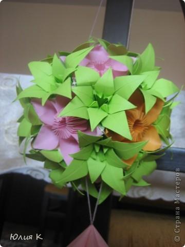 Кусудамка из цветов в подарок сестре мужа.  фото 2