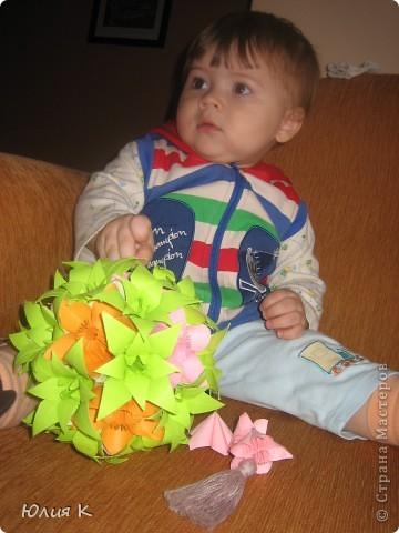 Кусудамка из цветов в подарок сестре мужа.  фото 5