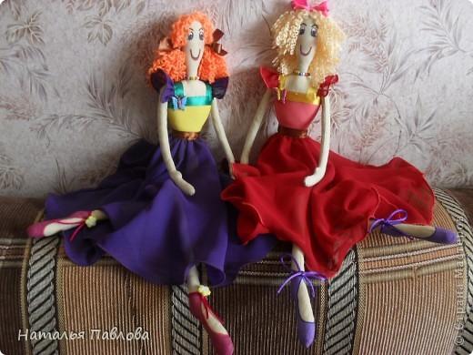 по выкройке Dotty dansers сшила вот таких танцовщиц...Смешные кукляшки получились... фото 1