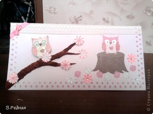 Вот появились заказы, так появились и открытки)   вот эту я делала вместе с моей подругой для её мамы) фото 1