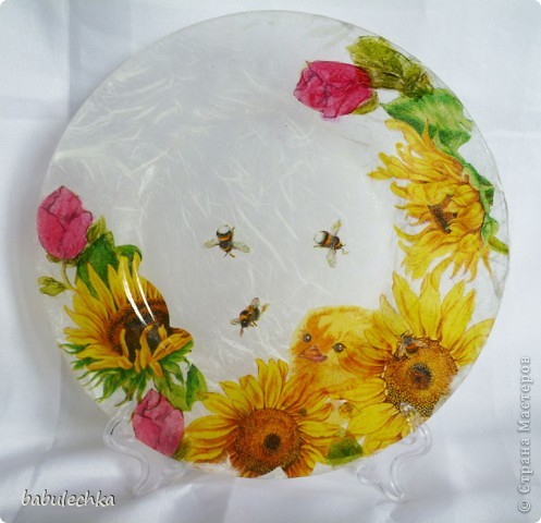 десертная тарелка,их четыре,все разные по  композиции фото 7