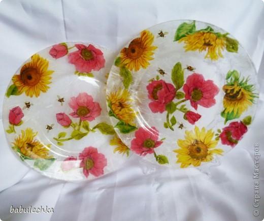 десертная тарелка,их четыре,все разные по  композиции фото 9
