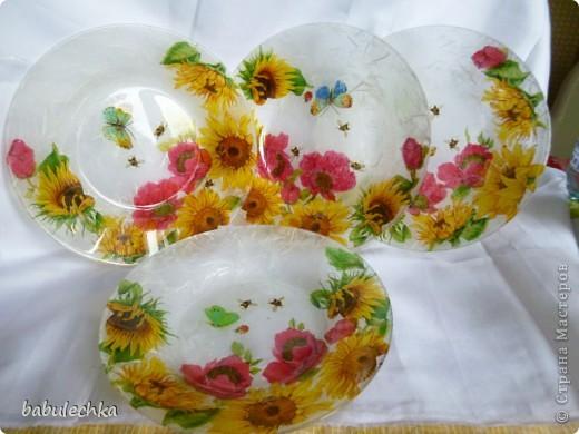 десертная тарелка,их четыре,все разные по  композиции фото 10