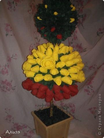 Это мой самый первый потиарчик (не знаю как вставлять ссылки на вдохновителей (((.) Вдохновила меня n-eonila своим деревом из роз фото 3