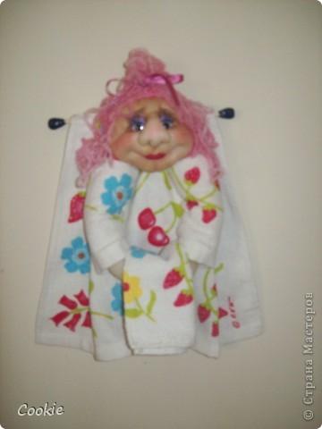 Вот такое забавное полотенчико сделала в подарок. фото 1