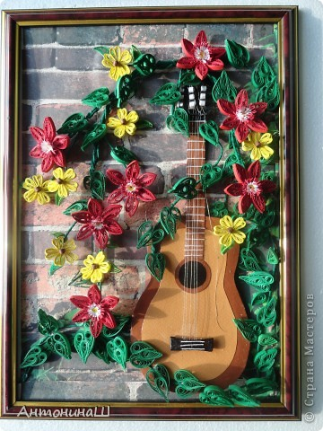 Забытая гитара! Картина сделана в подарок другу-гитаристу. фото 2