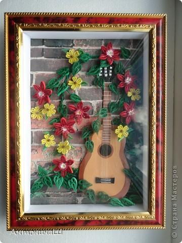 Забытая гитара! Картина сделана в подарок другу-гитаристу. фото 3