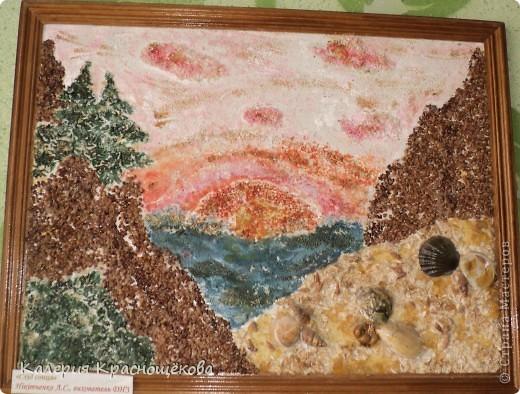 Не удивляйтесь когда увидите подписи на картинах... Я их сделала дома, а мама на выставку на работу забрала... фото 1