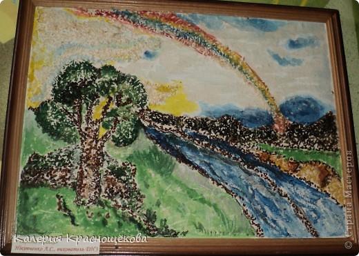 Не удивляйтесь когда увидите подписи на картинах... Я их сделала дома, а мама на выставку на работу забрала... фото 2