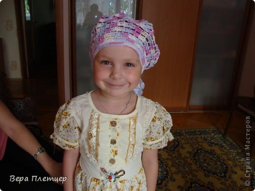 Увидела у Ирины  летний беретик https://stranamasterov.ru/node/201317  и решил связать такой же внучке. фото 1