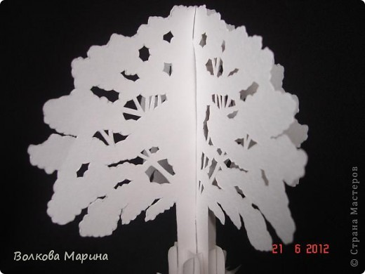 Деревья из бумаги для макета
